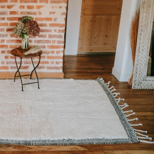 Tapis berbere blanc 210x142cm