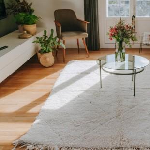 Grand tapis berbere blanc 235x165cm
