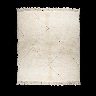 Tapis berbere blanc 235x165cm
