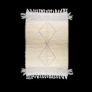 Tapis berbere blanc et gris 235x140cm